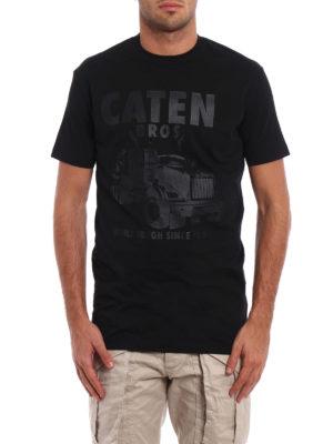 Dsquared2: t-shirts online - Tonal printed cotton T-shirt