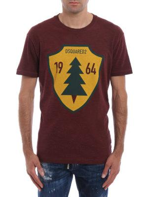Dsquared2: t-shirts online - Tree shield maxi print T-shirt