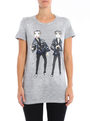 Dsquared2: t-shirts online - Twins printed T-shirt