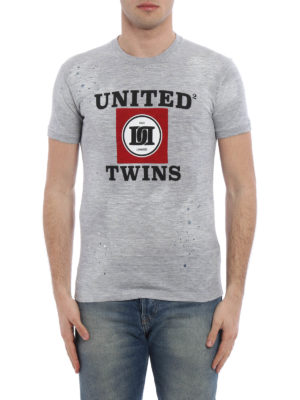 Dsquared2: t-shirts online - United Twins printed T-shirt
