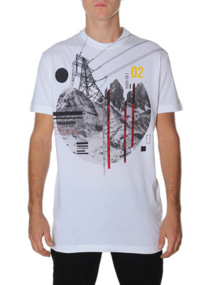 Dsquared2: t-shirts online - White cotton printed Tee