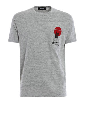Dsquared2: t-shirts - Printed chest pocket cotton T-shirt