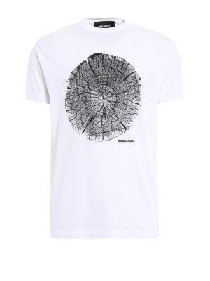 Dsquared2: t-shirts - Printed cotton Tee