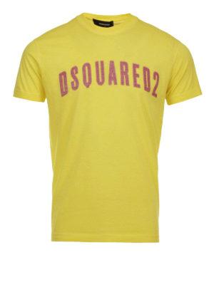 Dsquared2: t-shirts - Printed logo cotton T-shirt
