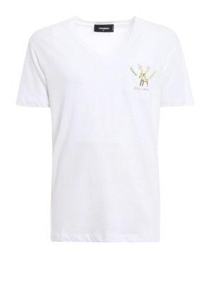 Dsquared2: t-shirts - Reindeer print T-shirt