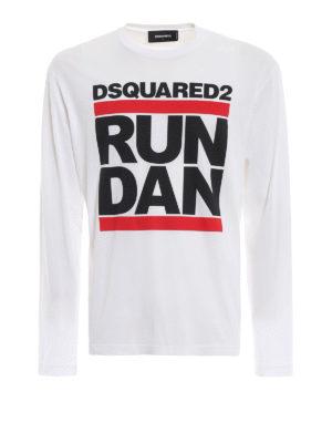 DSQUARED2: t-shirt - T-shirt Run Dan a manica lunga