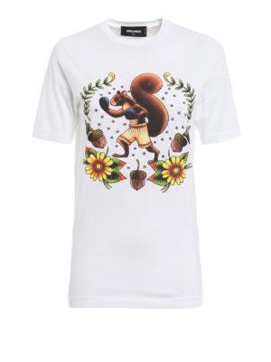 Dsquared2: t-shirts - Squirrel print T-shirt