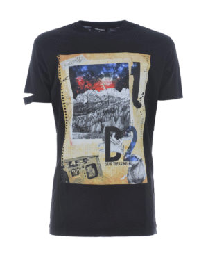 Dsquared2: t-shirts - Star Trekking print cotton T-shirt