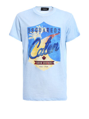 Dsquared2: t-shirts - Surfin' Brothers cotton T-shirt