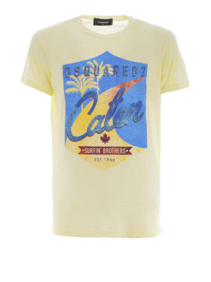 DSQUARED2: t-shirt - T-shirt in cotone Surfin' Brothers