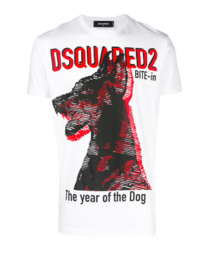 Dsquared2: t-shirts - The year of the Dog white T-shirt