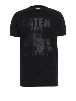Dsquared2: t-shirts - Tonal printed cotton T-shirt