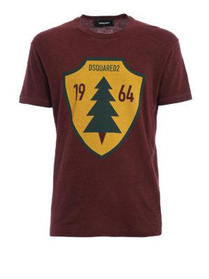 Dsquared2: t-shirts - Tree shield maxi print T-shirt