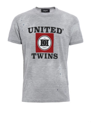 Dsquared2: t-shirts - United Twins printed T-shirt