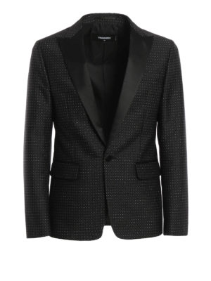 Dsquared2: Tailored & Dinner - Micro patterned tuxedo blazer