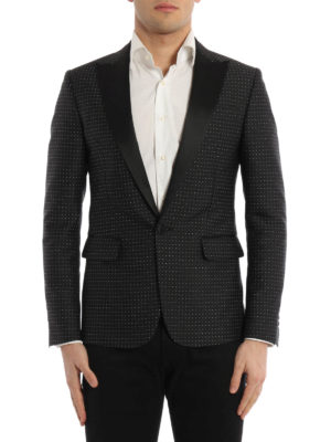 Dsquared2: Tailored & Dinner online - Micro patterned tuxedo blazer