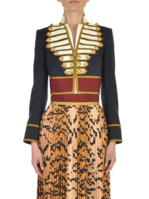Dsquared2: Tailored & Dinner online - Wool cropped livery jacket