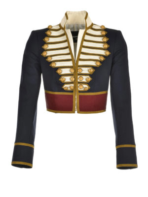 Dsquared2: Tailored & Dinner - Wool cropped livery jacket