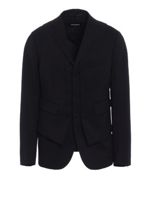 Dsquared2: Tailored & Dinner - Wool vest blazer