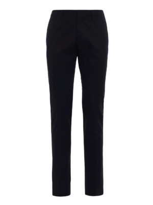 Dsquared2: Tailored & Formal trousers - Black cotton tailored chinos