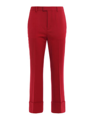 Dsquared2: Tailored & Formal trousers - Flared bottom cropped trousers
