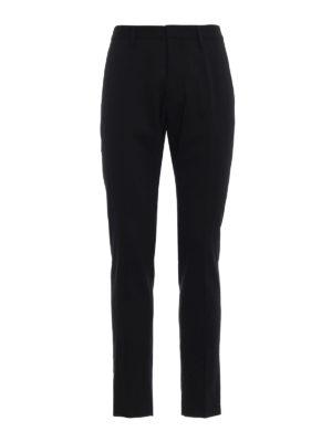 DSQUARED2: Pantaloni sartoriali - Pantaloni Hockney in gabardine nero