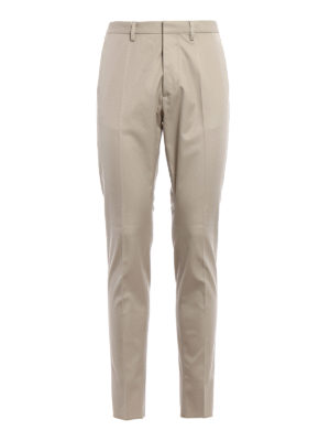 Dsquared2: Tailored & Formal trousers - Hockney cotton twill trousers