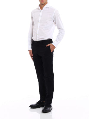Dsquared2: Tailored & Formal trousers online - Black cotton tailored chinos