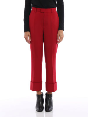 Dsquared2: Tailored & Formal trousers online - Flared bottom cropped trousers