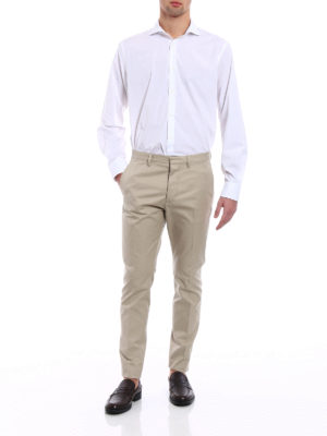 Dsquared2: Tailored & Formal trousers online - Hockney cotton twill trousers
