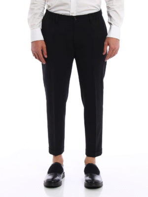 Dsquared2: Tailored & Formal trousers online - Virgin wool crop trousers
