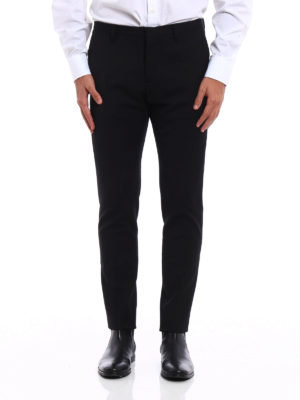Dsquared2: Tailored & Formal trousers online - Wool slim trousers