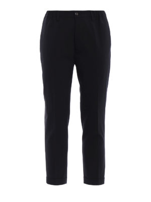 Dsquared2: Tailored & Formal trousers - Virgin wool crop trousers