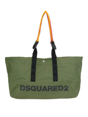 DSQUARED2: shopper - Borsa a mano Bad Scout in canvas