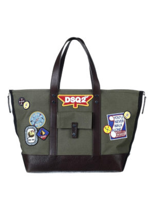 Dsquared2: totes bags - Bad Scout tote with patches