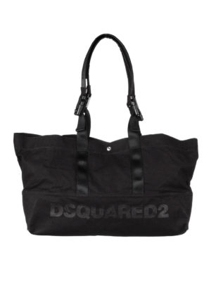 Dsquared2: totes bags - Logo print canvas tote