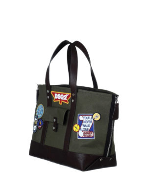 Dsquared2: totes bags online - Bad Scout tote with patches