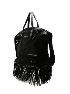 Dsquared2: totes bags online - Leather studded Chiodo shopping bag