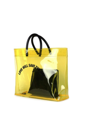 Dsquared2: totes bags online - Yellow PVC tote