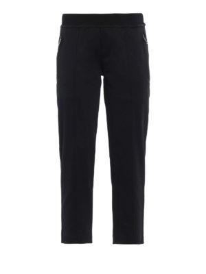 DSQUARED2: pantaloni sport - Pantaloni da jogging crop con logo ricamato