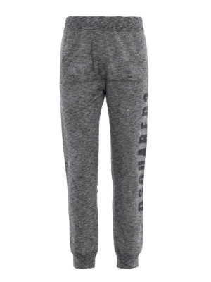 DSQUARED2: pantaloni sport - Pantaloni da jogging grigi stampa crack