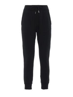 DSQUARED2: pantaloni sport - Pantaloni neri da jogging Icon