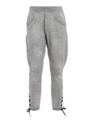 DSQUARED2: pantaloni sport - Pantaloni della tuta grigi a cavallo basso
