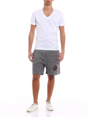 Dsquared2: tracksuit bottoms online - Short over fit jersey track pants
