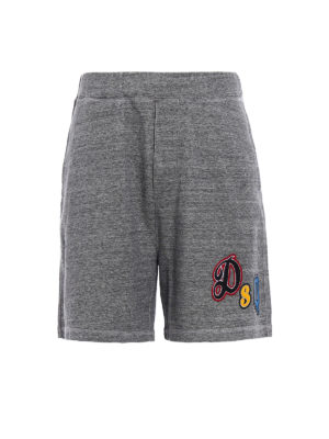 Dsquared2: tracksuit bottoms - Short over fit jersey track pants