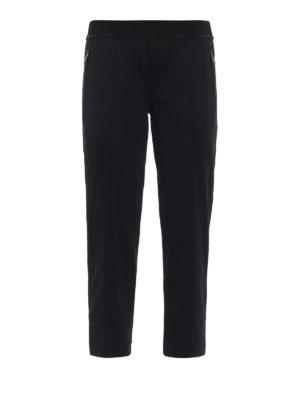 DSQUARED2: pantaloni sport - Pantaloni della tuta in jersey con tasche zip