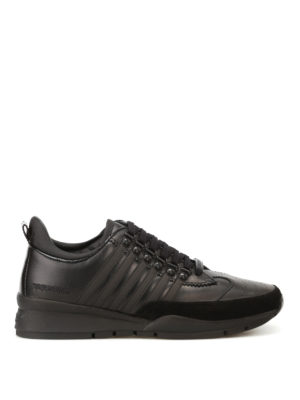 Dsquared2: trainers - 251 black leather sneakers