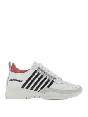 DSQUARED2: sneakers - Sneaker 251 con righe a contrasto