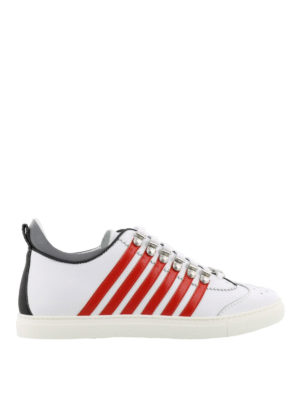 DSQUARED2: sneakers - Sneaker bianche e rosse 251