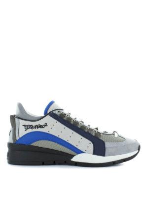 DSQUARED2: sneakers - Sneaker 551 grigie e blu